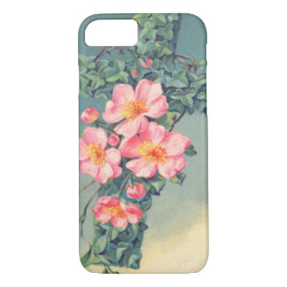 Church Vines Pink Flowers Christian Leaves iPhone 8/7 Case