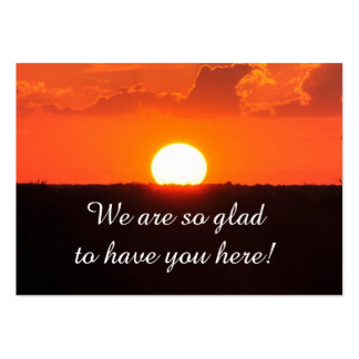 Church Visitor Sunset Card Large Business Card