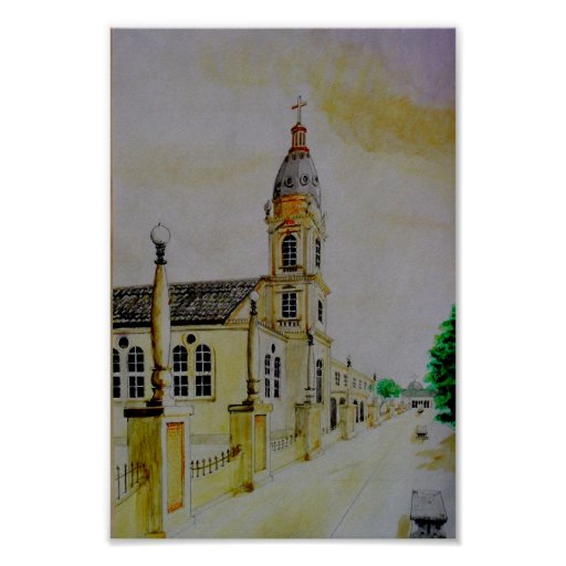 Church water color poster