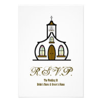 Church Wedding RSVP Personalized Invitation