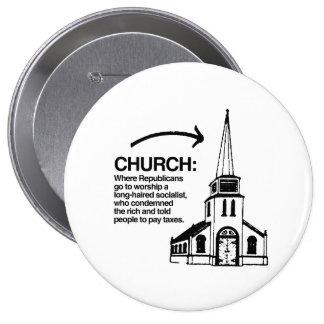 CHURCH - WHERE REPUBLICANS GO TO WORSHIP A LONG-HA BUTTON