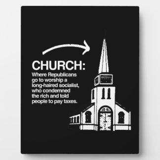 CHURCH - WHERE REPUBLICANS GO TO WORSHIP A LONG-HA PHOTO PLAQUE