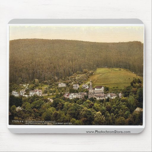 Church, Wildbad, Black Forest, Baden, Germany clas Mouse Pad