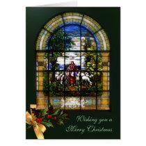CHURCH WINDOW - CHRISTMAS LAMB CARD