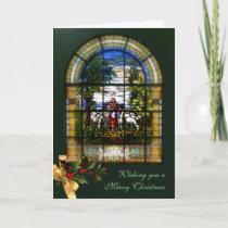 CHURCH WINDOW - CHRISTMAS LAMB HOLIDAY CARD