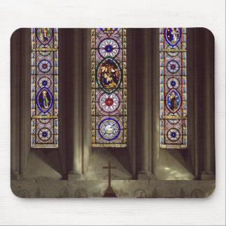 Church Window Cross Mouse Pad