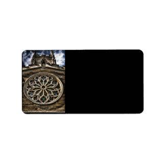 Church Window HDR art address label (M)