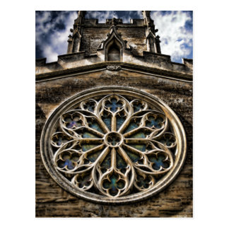 Church Window HDR art postcard