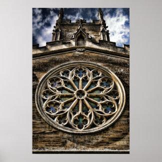 Church Window HDR art poster print