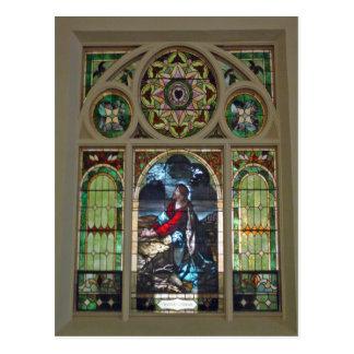 Church Window Postcard