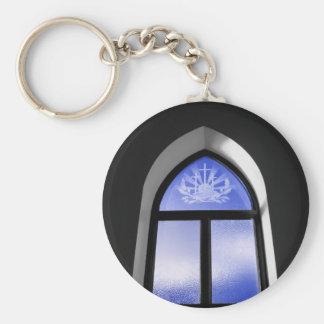Church window sc basic round button keychain
