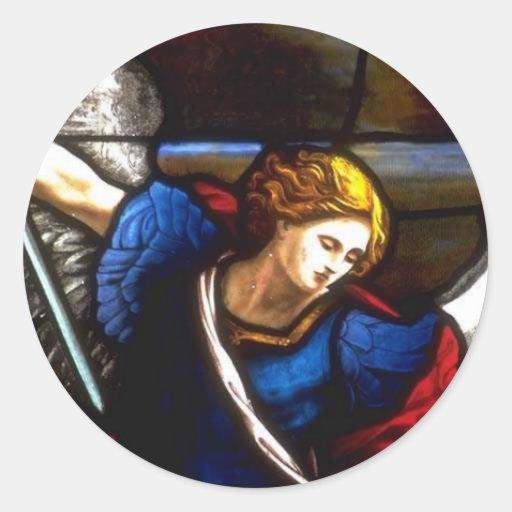 Church Windows 090 Round Sticker