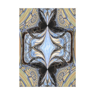 Church Windows and Doors Fractal Design Wrapped Ca Stretched Canvas Print