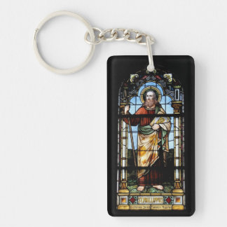 Church windows Switzerland Suisse/key supporter Single-Sided Rectangular Acrylic Keychain