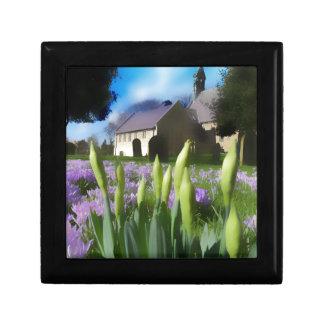 Church with artistic blur gift box