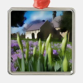 Church with artistic blur metal ornament