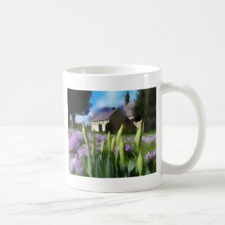Church with artistic blur mugs