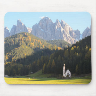 Church with Dolomites background mousepad