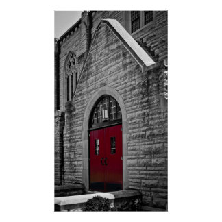 Church with Red Doors Poster