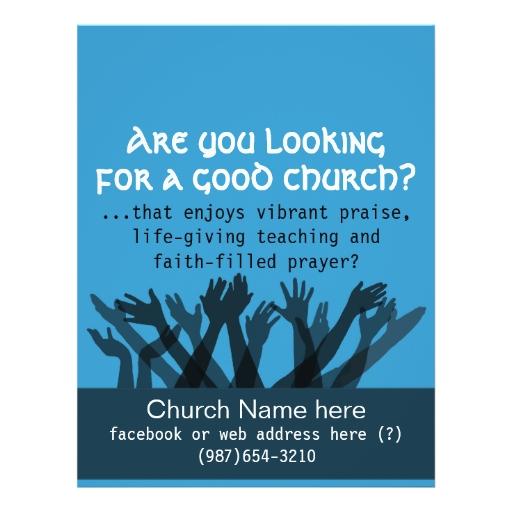 free church invitation flyer templates .