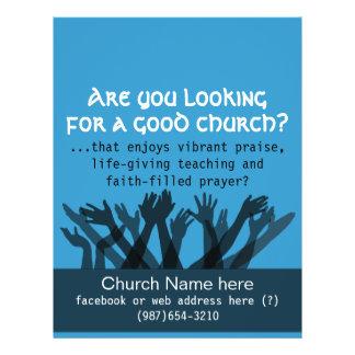 "Church.Worship.Bible.Fellowship.Healing.Prayer Folleto 8.5"" X 11"""