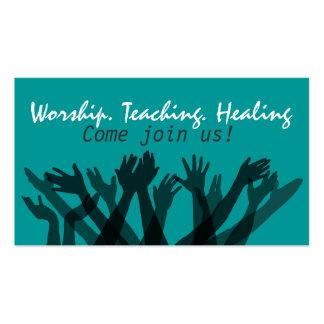 Church.Worship.Bible.Fellowship.Healing.Prayer Tarjetas De Visita