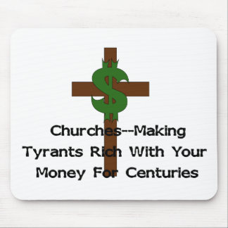 Churches Heart Money Mouse Pad