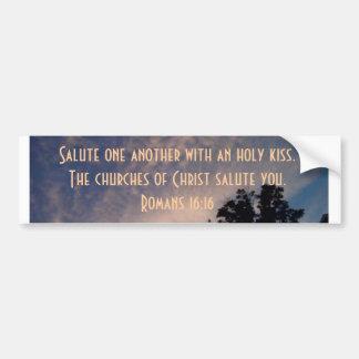 Churches of Christ salute you Car Bumper Sticker