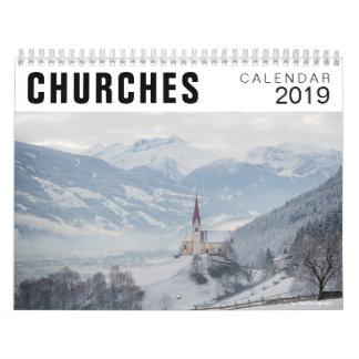 Churches photography calendar 2019