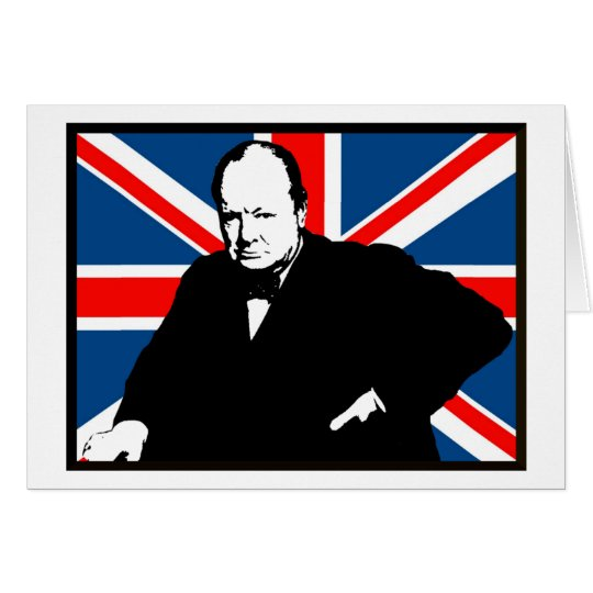 Churchill and Union Jack Card