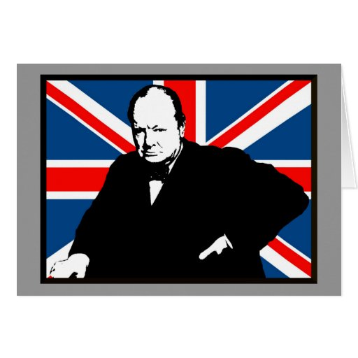 Churchill and Union Jack Cards