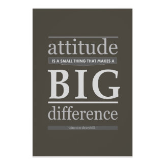 Churchill attitude is a small thing that makes big poster