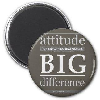 Churchill attitude small big difference 2 inch round magnet