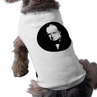 Churchill -- Black and White Dog T-shirt