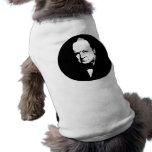 Churchill -- Blanco y negro Playera Sin Mangas Para Perro