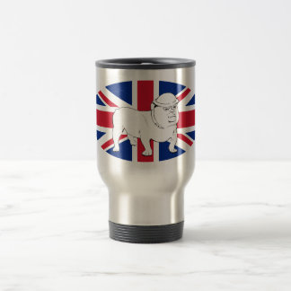 Churchill Bulldog and Union Jack Flag Coffee Mug