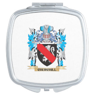 Churchill Coat of Arms - Family Crest Mirror For Makeup