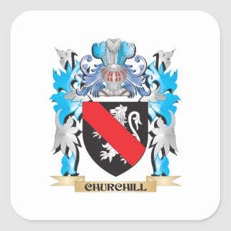 Churchill Coat of Arms - Family Crest Sticker