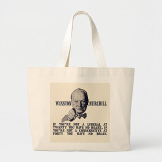 Churchill en conservadores y liberales bolsa tela grande