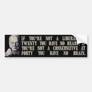 Churchill en conservadores y liberales pegatina para auto
