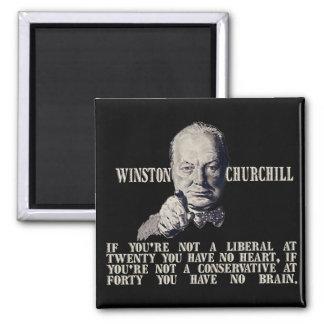 Churchill en conservadores y liberales iman para frigorífico
