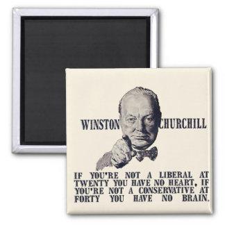 Churchill en conservadores y liberales imanes de nevera