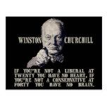 Churchill en conservadores y liberales tarjeta postal