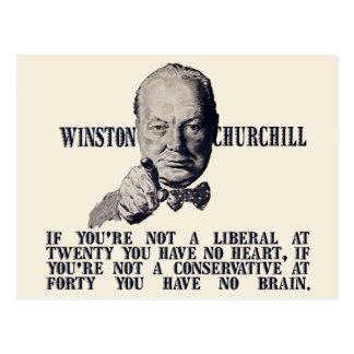 Churchill en conservadores y liberales postales