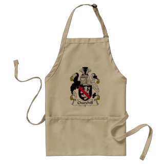 Churchill Family Crest Adult Apron