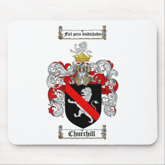 CHURCHILL FAMILY CREST -  CHURCHILL COAT OF ARMS MOUSE PAD