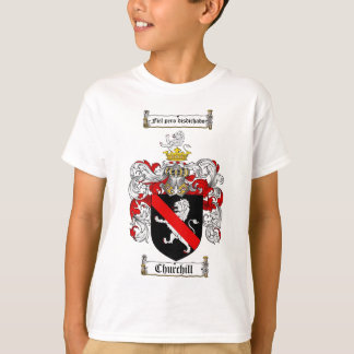 CHURCHILL FAMILY CREST -  CHURCHILL COAT OF ARMS T-Shirt