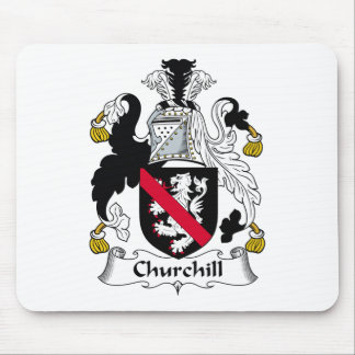 Churchill Family Crest Mouse Pad