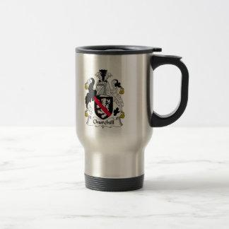 Churchill Family Crest 15 Oz Stainless Steel Travel Mug