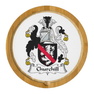 Churchill Family Crest Round Cheese Board